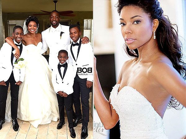 Gabrielle unions wedding dress photos are here see both beautiful gabrielle unions wedding dress photos are here see both beautiful gowns http junglespirit Image collections