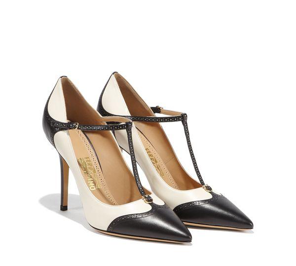 prada shoes vs ferragamo logo silhouette woman head