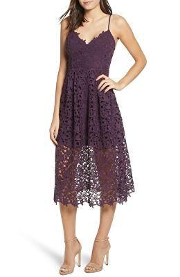 e38d456c7849 ASTR THE LABEL Designer Lace Midi Dress
