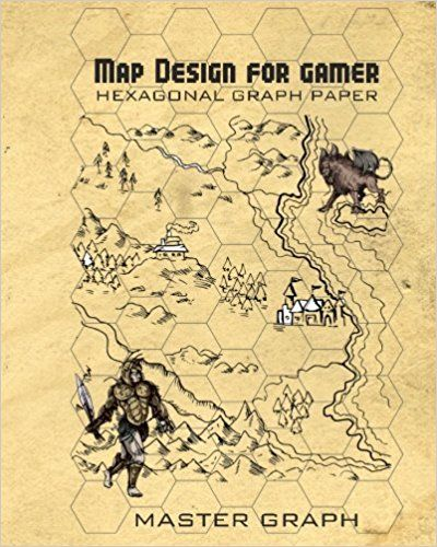 Map Design For Gamer Hexagonal Graph Paper For Board Game Master