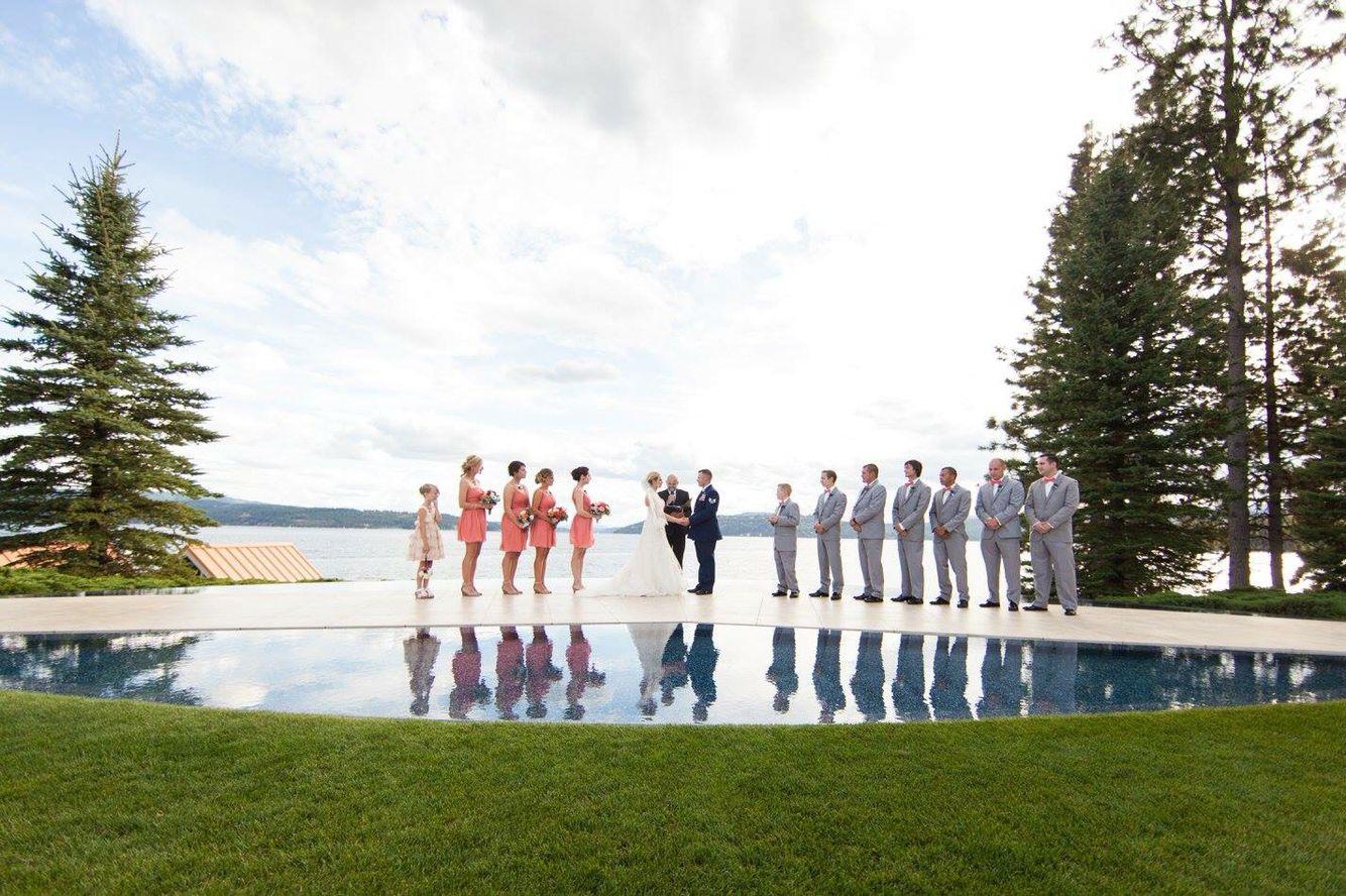Infinity pool looking over Lake Coeur d'Alene, Idaho.