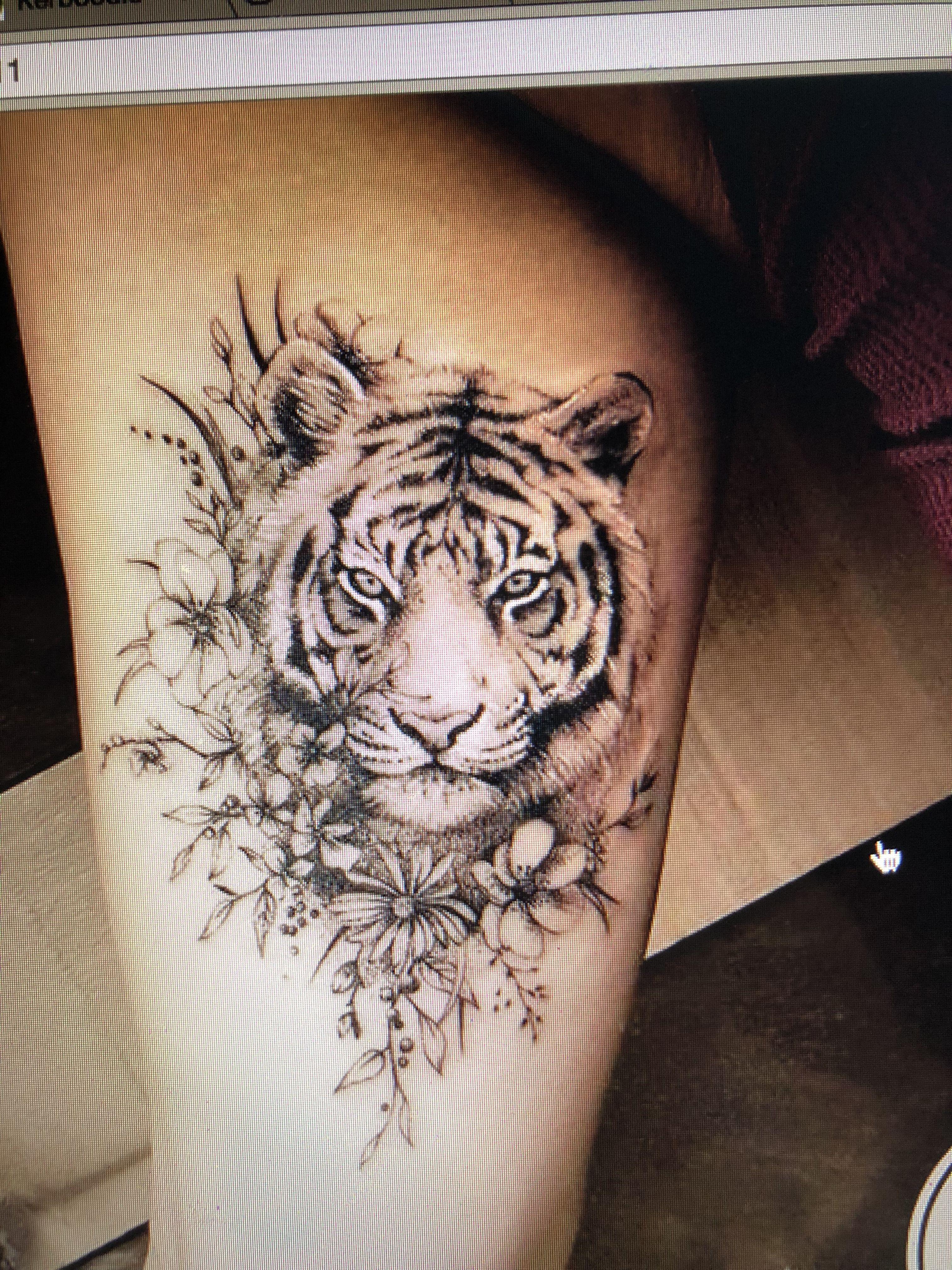 Pin By Jenny Lenh On Tattoo Ideas Animal Tattoos Tiger Tattoo Cute Best Friend Tattoos