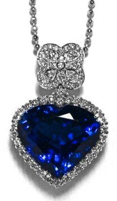 Heart blue sapphire diamond pendant diamonds more pinterest heart blue sapphire diamond pendant aloadofball Gallery