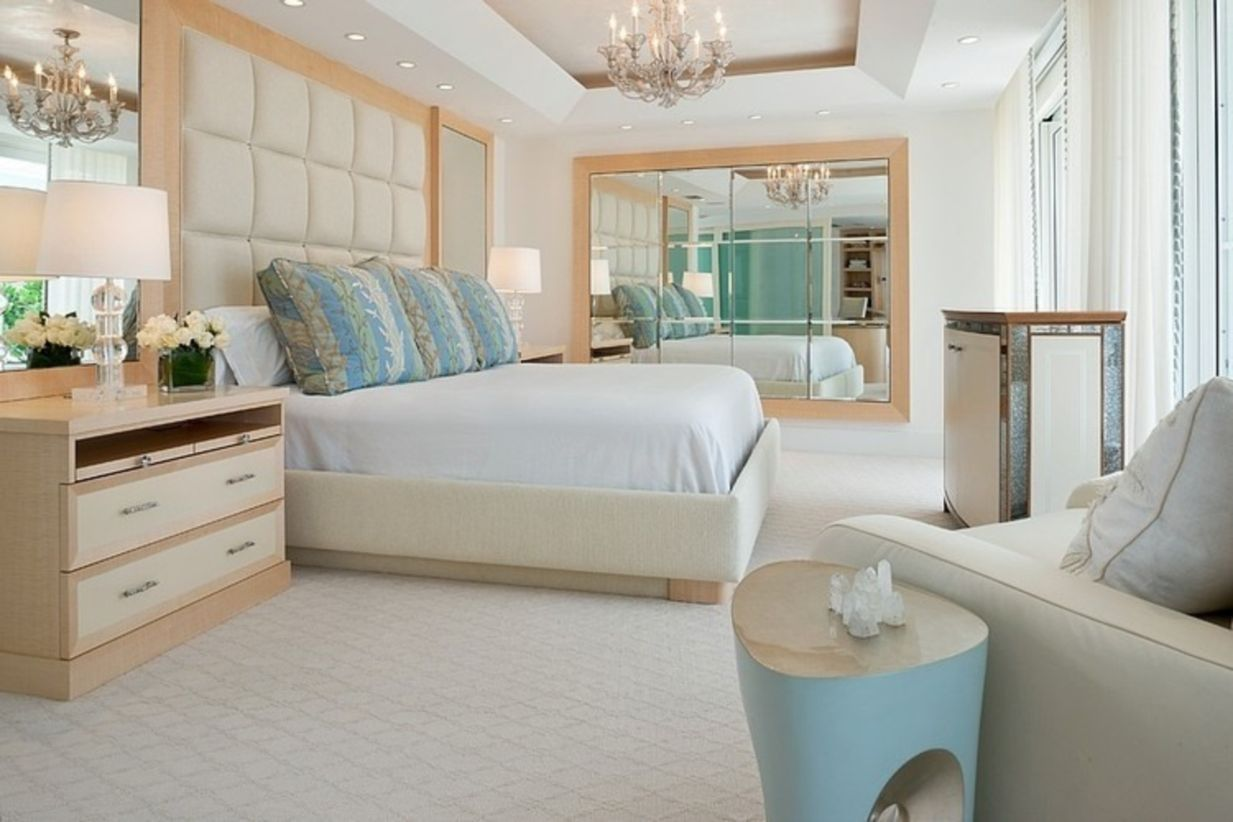 modern beach house apartment with sea color inspiration color
