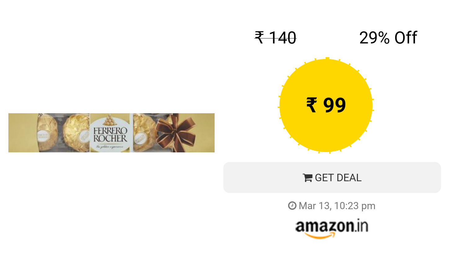 Ferrero Rocher 4 Pieces With Images Ferrero Rocher Deal Online Shopping Stores