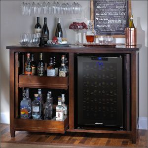 Corner Bar Cabinet With Fridge Sprits Zinfandel Interieur