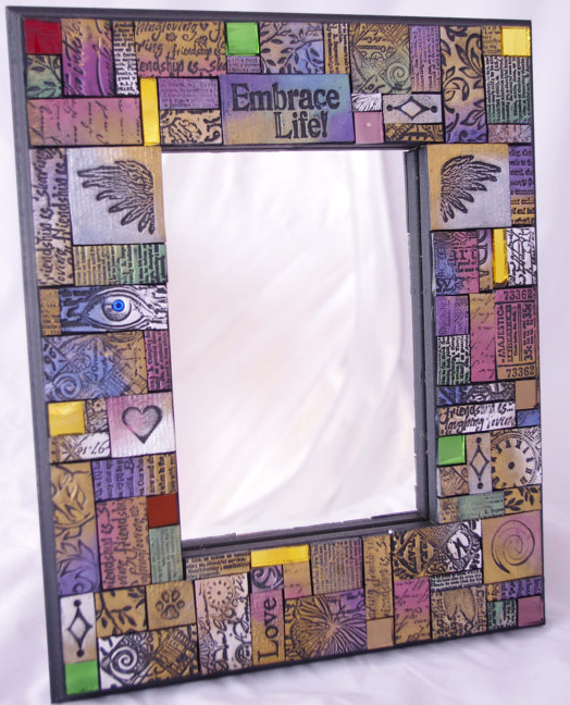 Check Out These Amazing Mosaics By Laurie West In Addition To Her Polymer Clay Tiles She Uses An Ortment Of Cut Gl And
