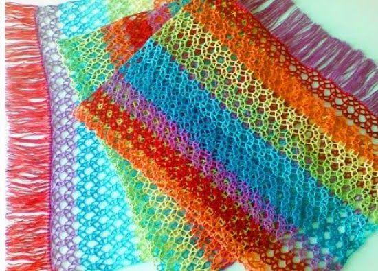 Circulos calados de crochet tutorial - Patrones Crochet   crochet ...