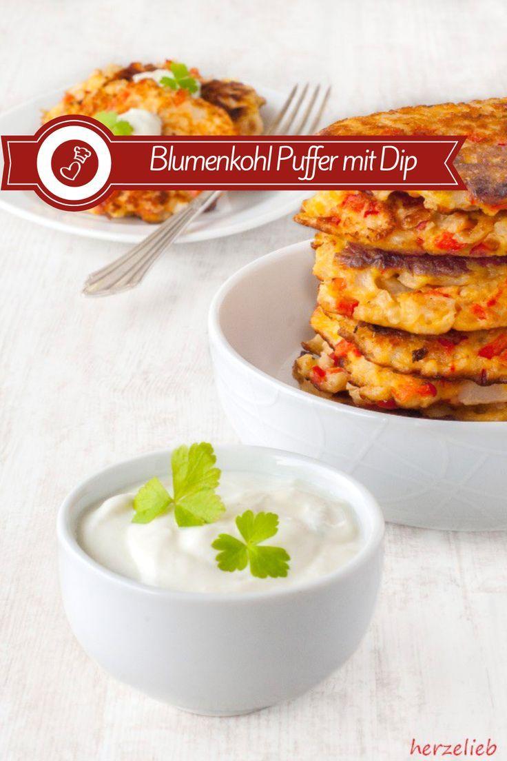 Blumenkohl-Puffer Rezept - Hausmannskost und Snack ganz raffiniert und schnell
