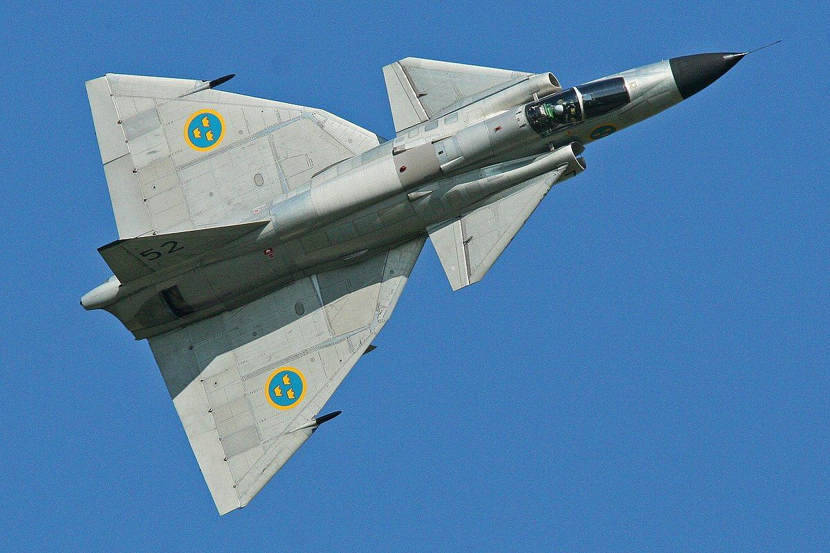 SAAB 37 VIGGEN Swedish air force, Aircraft, Fighter jets