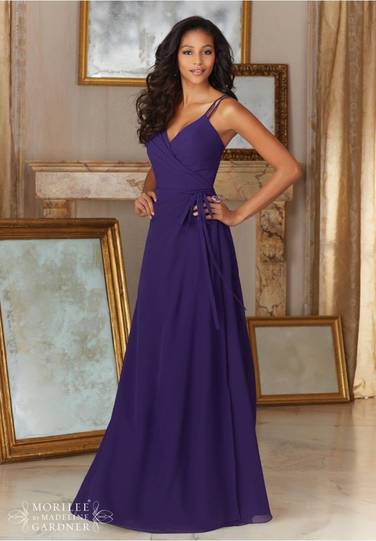 Bridesmaids Dresses Chiffon Matching Tie Sash included, Style 144 ...