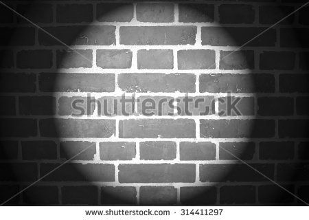 Brick Wall With Spotlight In Black And White Background Black And White Background Brick Wall Wall Spotlights