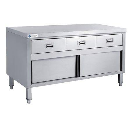 Stainless Steel Kitchen Work Cabinet Tt Bc320a Main View Stainless Steel Cabinets Tidy Kitchen Stainless Steel Bench