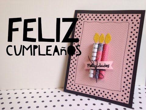 TUTORIAL Tarjeta de feliz cumplea os F CILDIY EASY Happy Birthday – Happy Birthday Cards Youtube