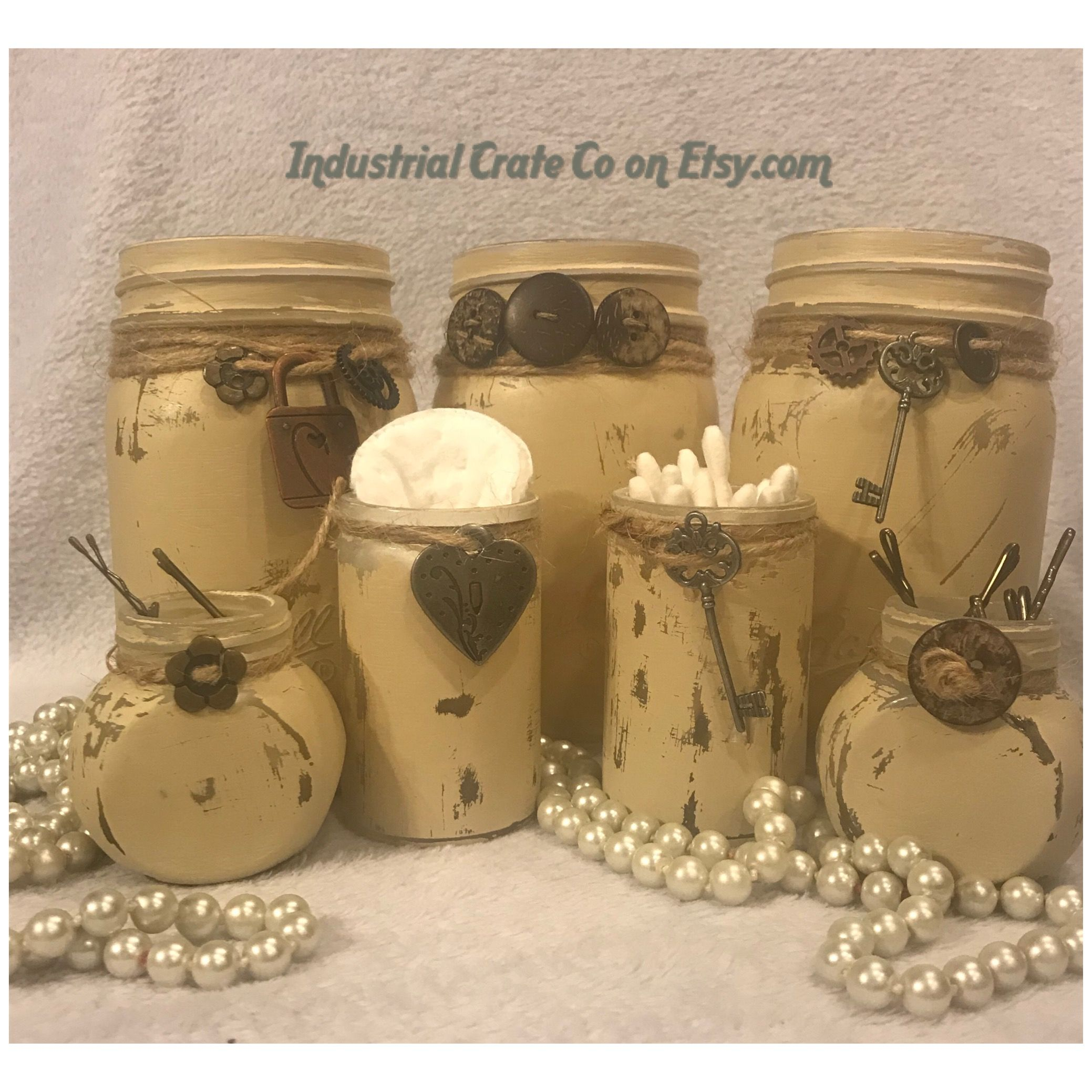 Mason Jar Set Sold On Etsy Made By Industrial Crate