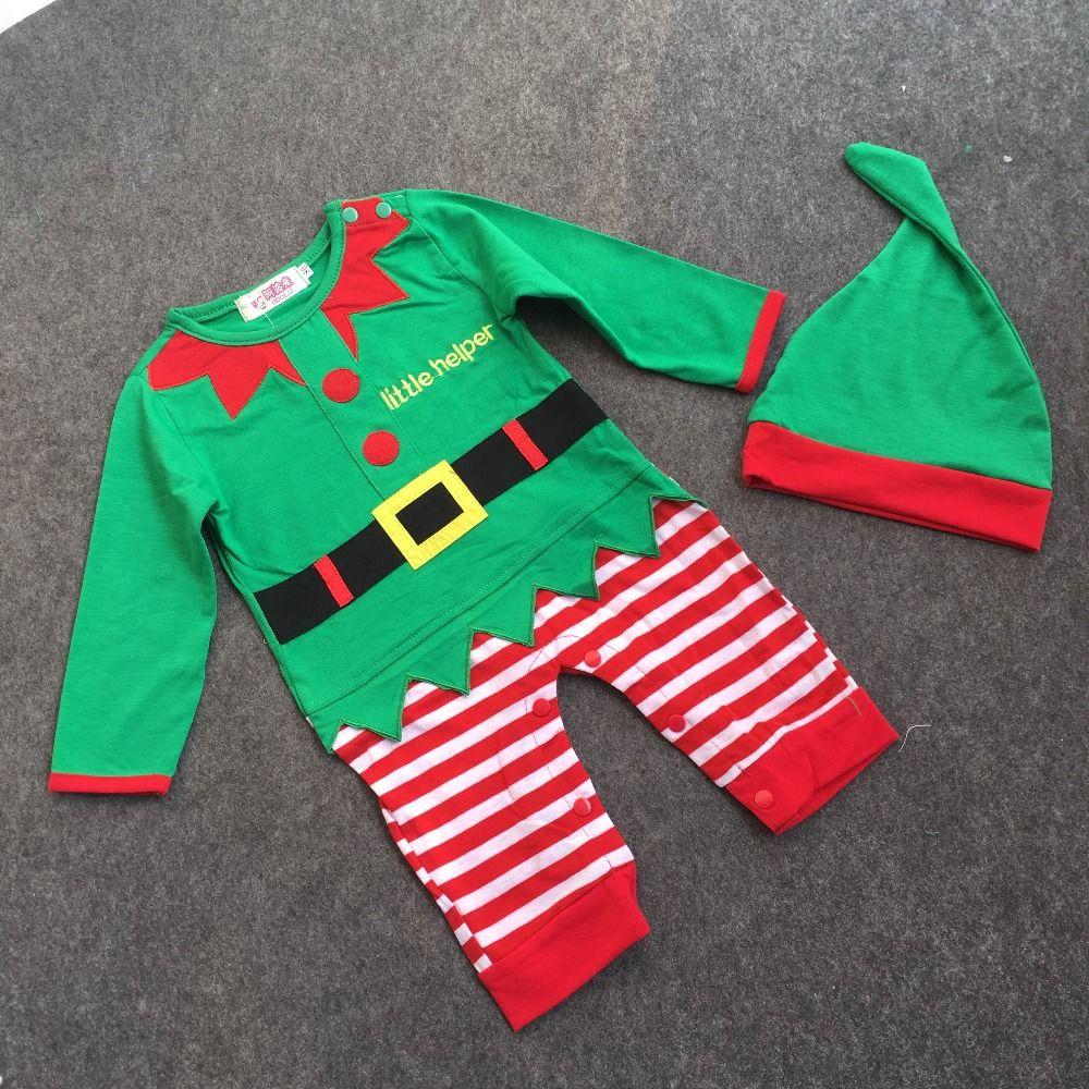 Christmas Baby Boy Vestiti 2015 Nuovo Anno Pagliaccetti Del