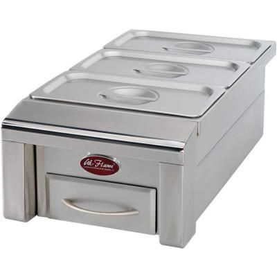 drop in stainless steel bbq food warmer for outdoor grill island bbq07888p h at the home depot