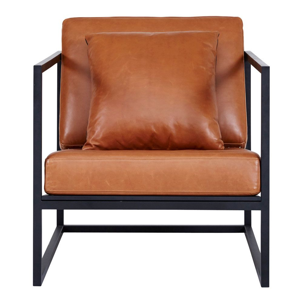 leather armchair metal frame folding chair covers bulk this black and italian brown tan is a modern designer accent for your living room sit back relax in style