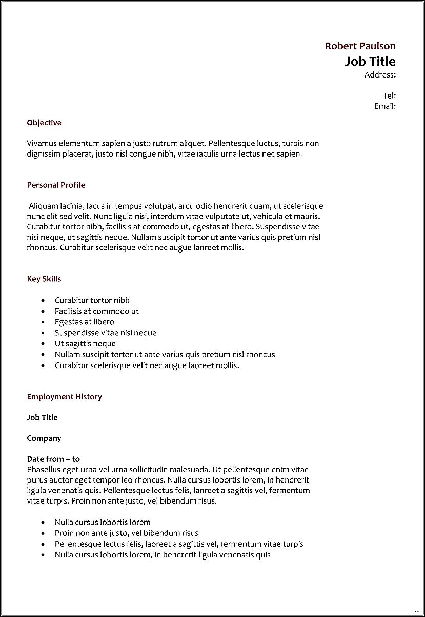 Resume Format Spacing Resume Format Pinterest Resume Format
