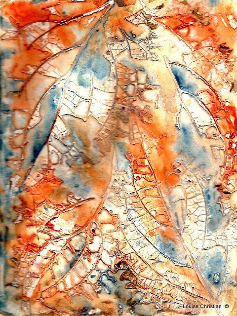 Coleus Leaf Magic Mixed Media Abstract Watercolor Art Art