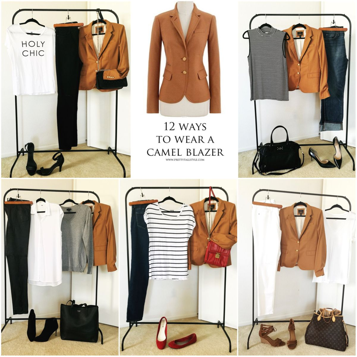 How to Wear a Camel Blazer 12 Ways #Fall #outfit | Fall-Winter ...
