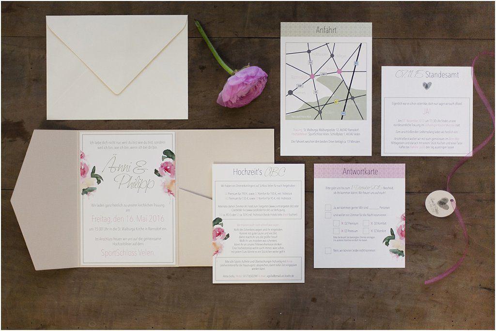Lieblich zarte pastell Pocketeinladung Design Anmut und Sinn