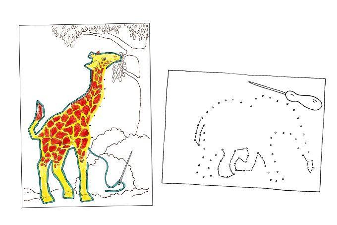 Stickkarten Versteckte Tiere