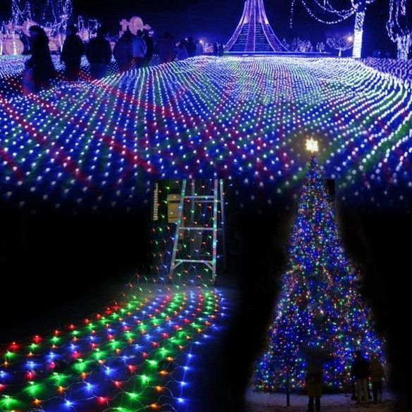 colorful 200 led net mesh decorative fairy lights twinkle lighting christmas wedding party us110v