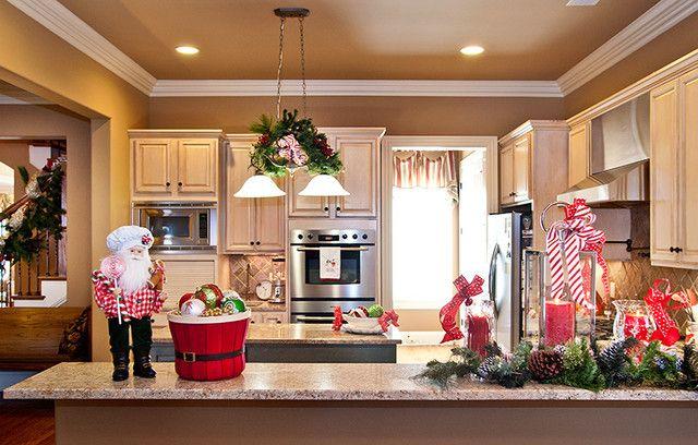 como decorar cocina en navidad Decoracion cocinas Navidad Pinterest