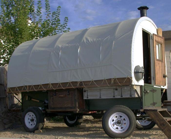 Sheep Wagon Style Camping Trailer Diy Travel Trailer Camping Trailer Wagon