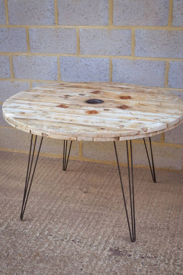 Cable Reel Dining Table With Hairpin