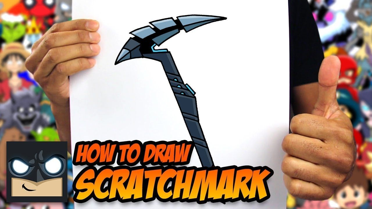 HOW TO DRAW FORTNITE SCRATCHMARK STEP BY STEP TUTORIAL
