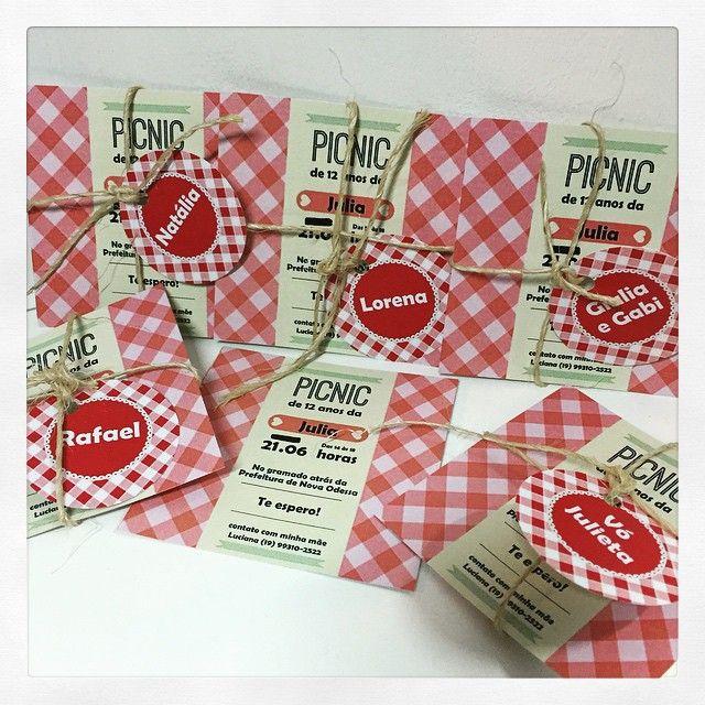 Convite do picnic da Julia, que foi um tudo de bom! #convite #picnic…                                                                                                                                                                                 Mais