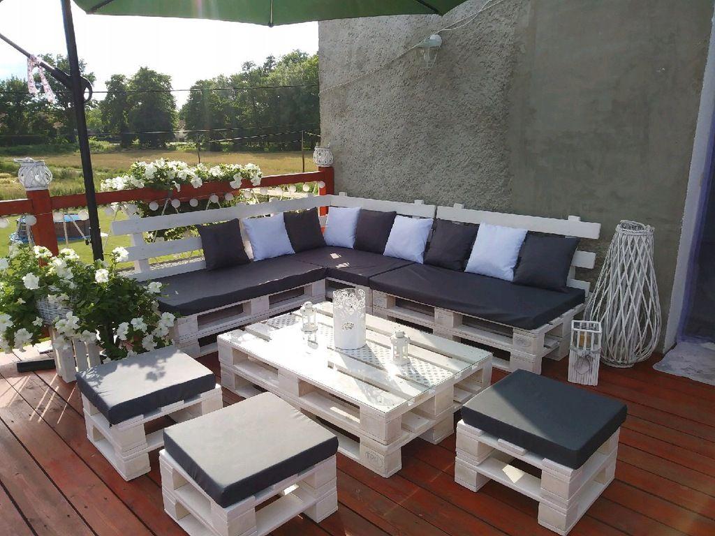 Meble Ogrodowe Z Palet Stol 120x80 7834266843 Oficjalne Archiwum Allegro Outdoor Furniture Sets Diy Pallet Sofa Pallet Furniture