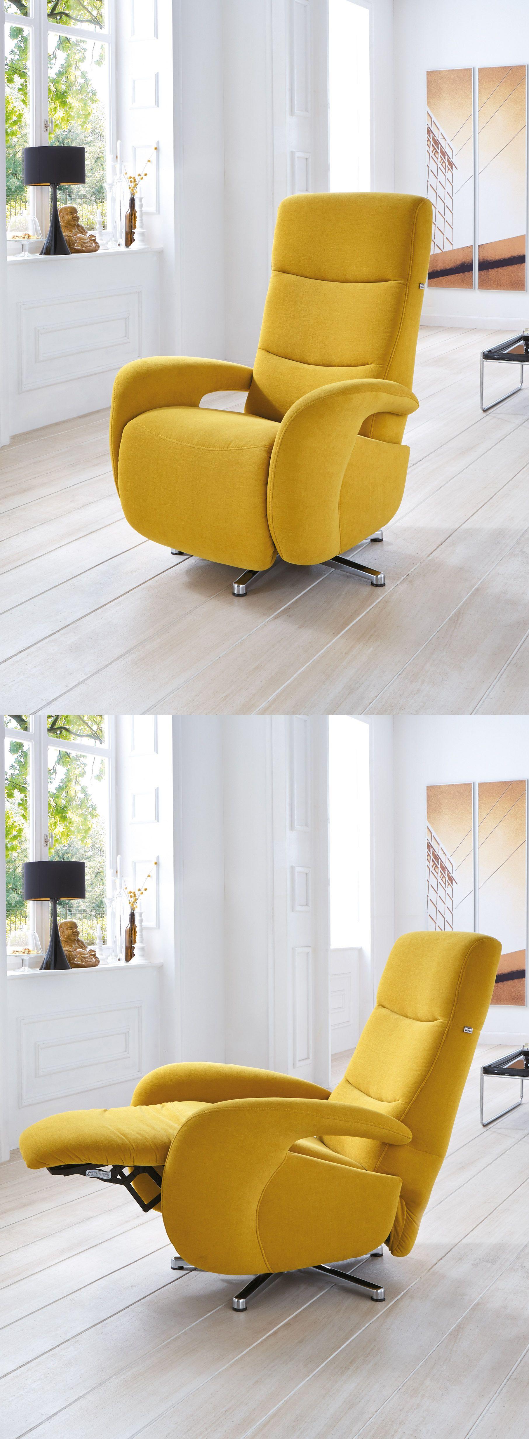 gelber Relaxsessel Baron | Der kleine Wellness-Urlaub für dein  Wohnzimmer... Dieser