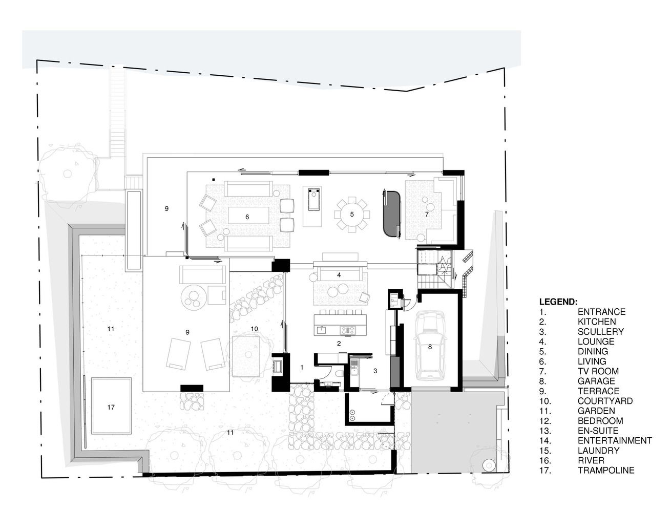 Gallery Of Restio River House Saota 26 House And Home Magazine River House House Plans
