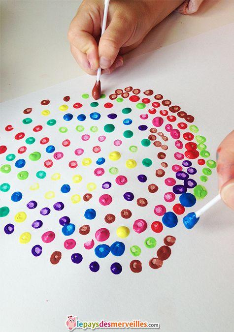 Activit points coton tige un jour une activit cr ative pinterest coton tige tiges et coton - Activite creative enfant ...