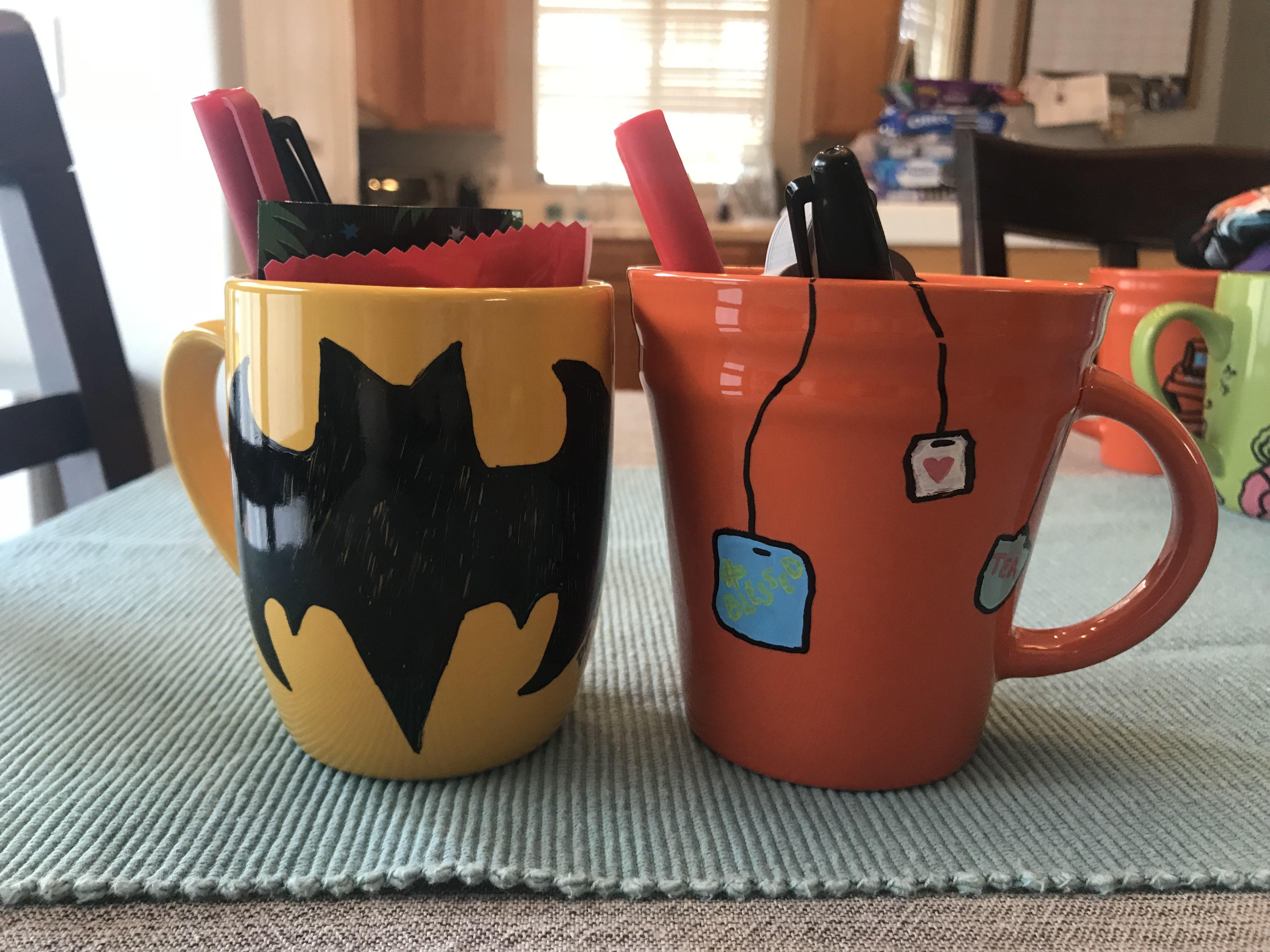 Diy Personalized Mugs Dollar Store Ceramic Mug Oil Based