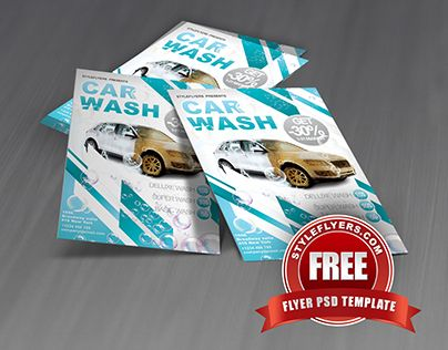 "Check Out New Work""Car Wash Psd Flyer Template"" #Car #Wash #Event"