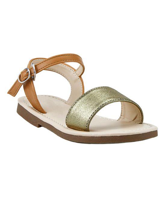 Gold & Brown Sandal