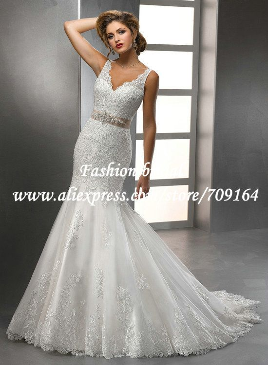 High Low White Mermaid Lace Wedding Gowns Colored Sashes Beaded Open ...