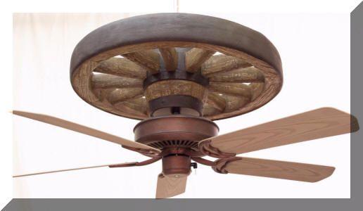 Copper Canyon Western Star Wagon Wheel Ceiling Fan