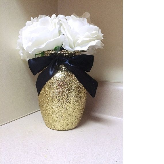 3 Gold Amp Black Vases Gold And Black Baby By