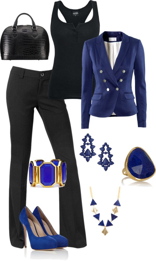 """""""Black and Blue"""" by thunt8702 on Polyvore"""