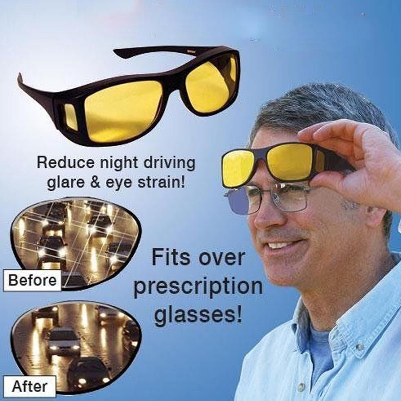 d395ba1c2c2  14.95 - High Def Night Time Wrap Around Glasses That Go Over Your Glasses- Drive At Night  ebay  Fashion