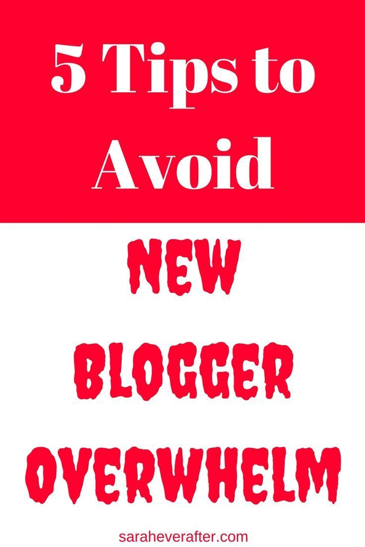 Don't let New Blogger Overwhelm stop you from reaching your blogging goals! Check out these 5 tips that can help.