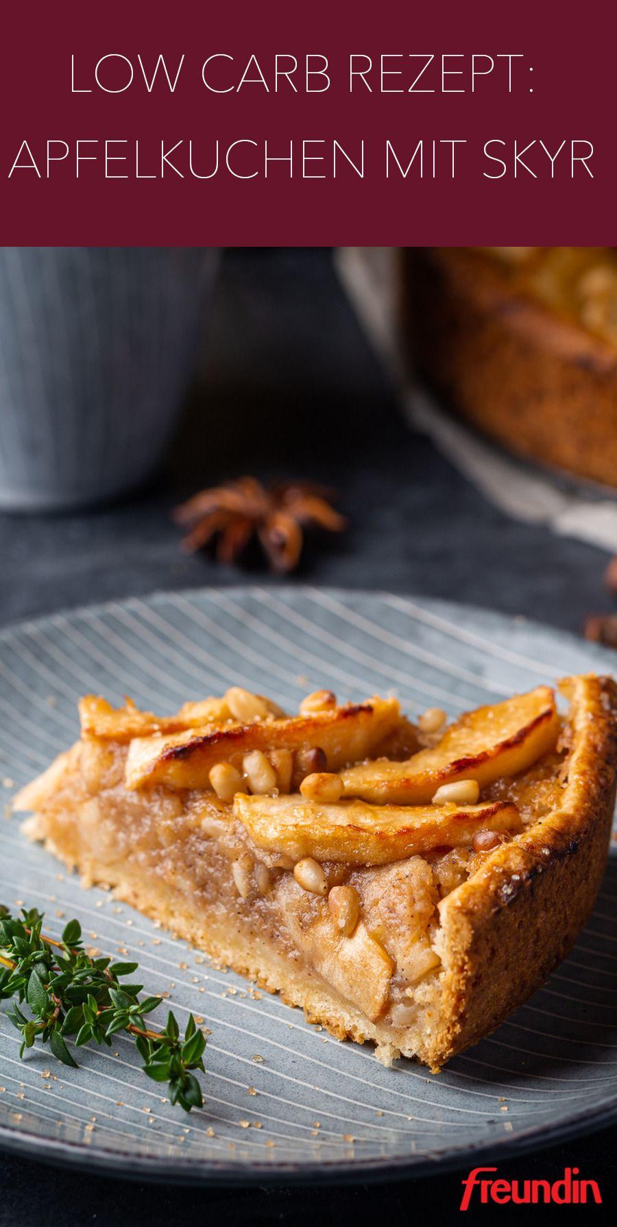 Low-Carb-Rezept: Köstlicher Skyr-Apfelkuchen | freundin.de