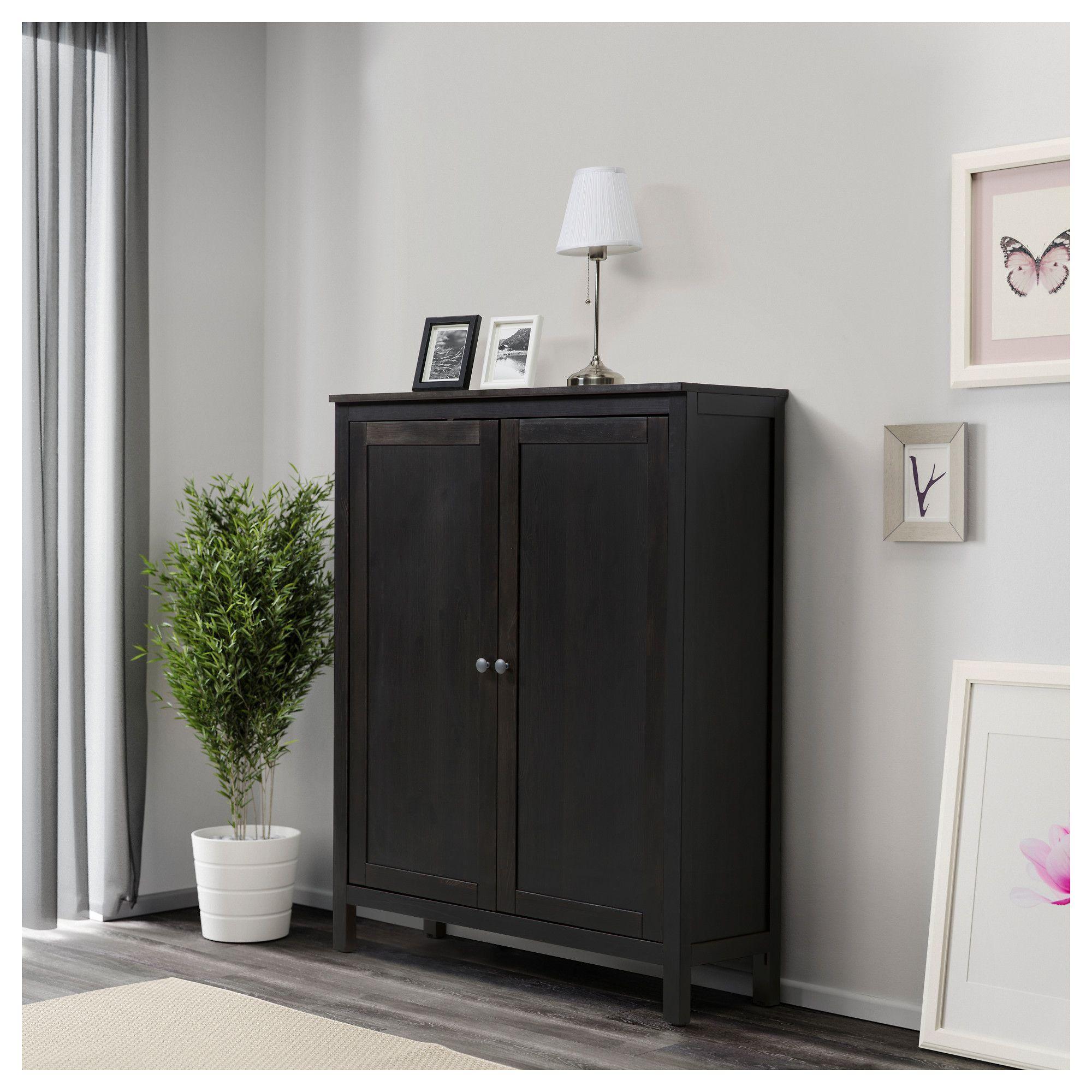 Ikea Hemnes Cabinet With 2 Doors Black Brown Cabinets