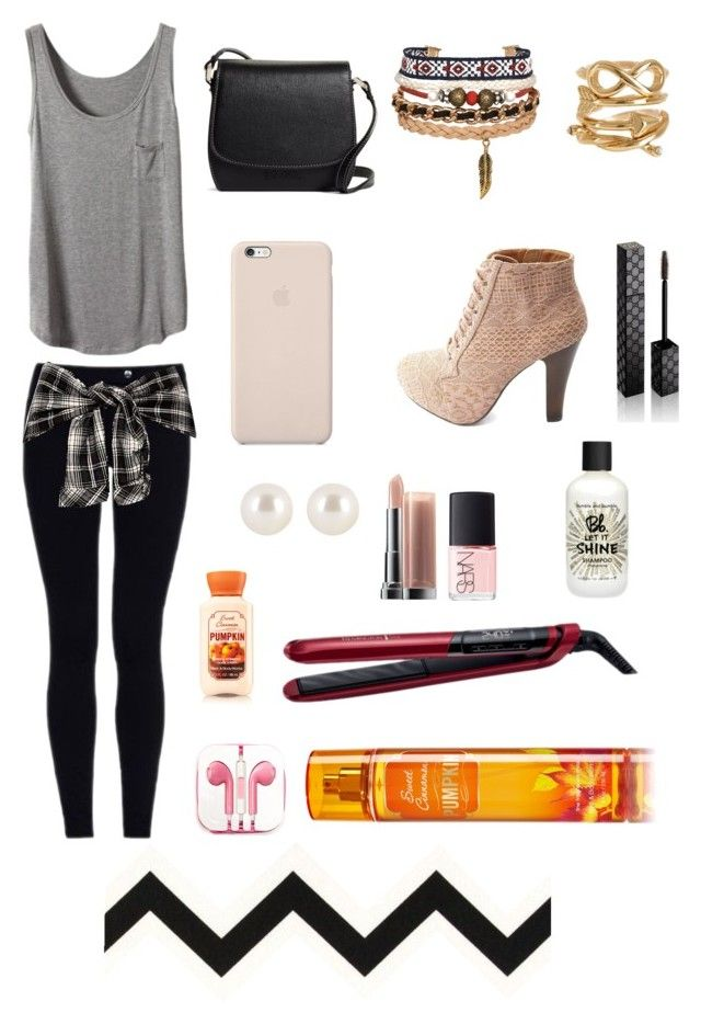 """Untitled #229"" by phoebehhk ❤ liked on Polyvore featuring Brooks Brothers, Black Apple, Charlotte Russe, Spring Street, Henri Bendel, Gucci, Maybelline, NARS Cosmetics, Remington and Bumble and bumble"