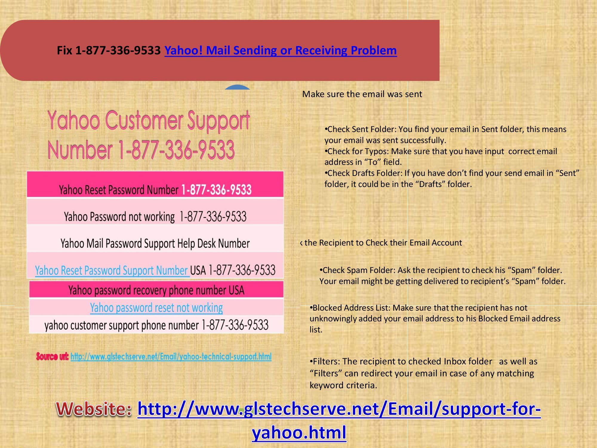 Contact Yahoo Tollfree 1-877-336-9533   1-877-336-9533@Yahoo